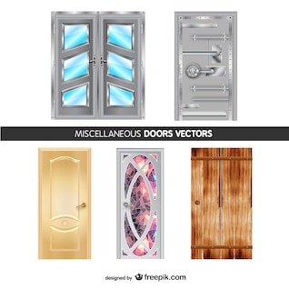 Miscellaneous doors vector set