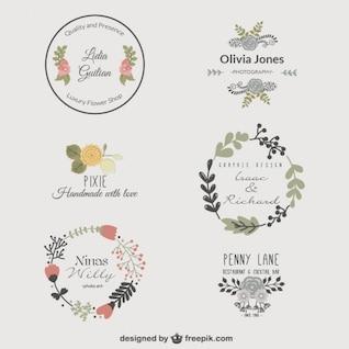 Premium floral logo templates