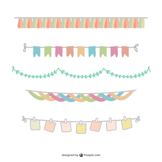 Colorful garland pack