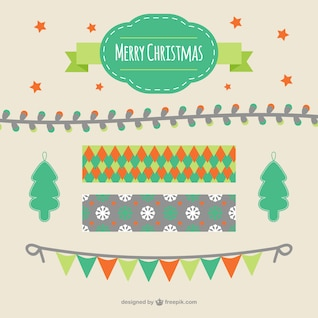 Merry Christmas garland set