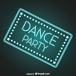 Dance party neon sign