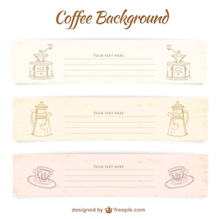 Coffee banner templates