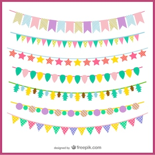 Colorful garlands pack