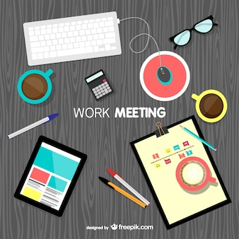 Work meeting background vector