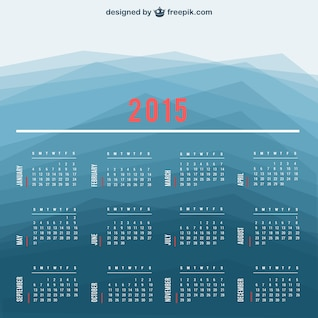 2015 Calendar vector with polygonal background