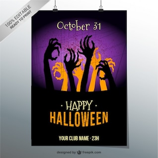 Happy Halloween poster template