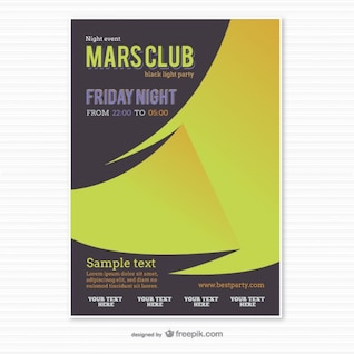 Party poster template origami style