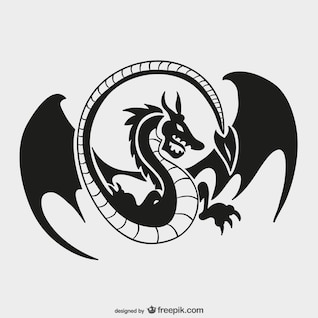 Dragon logo template