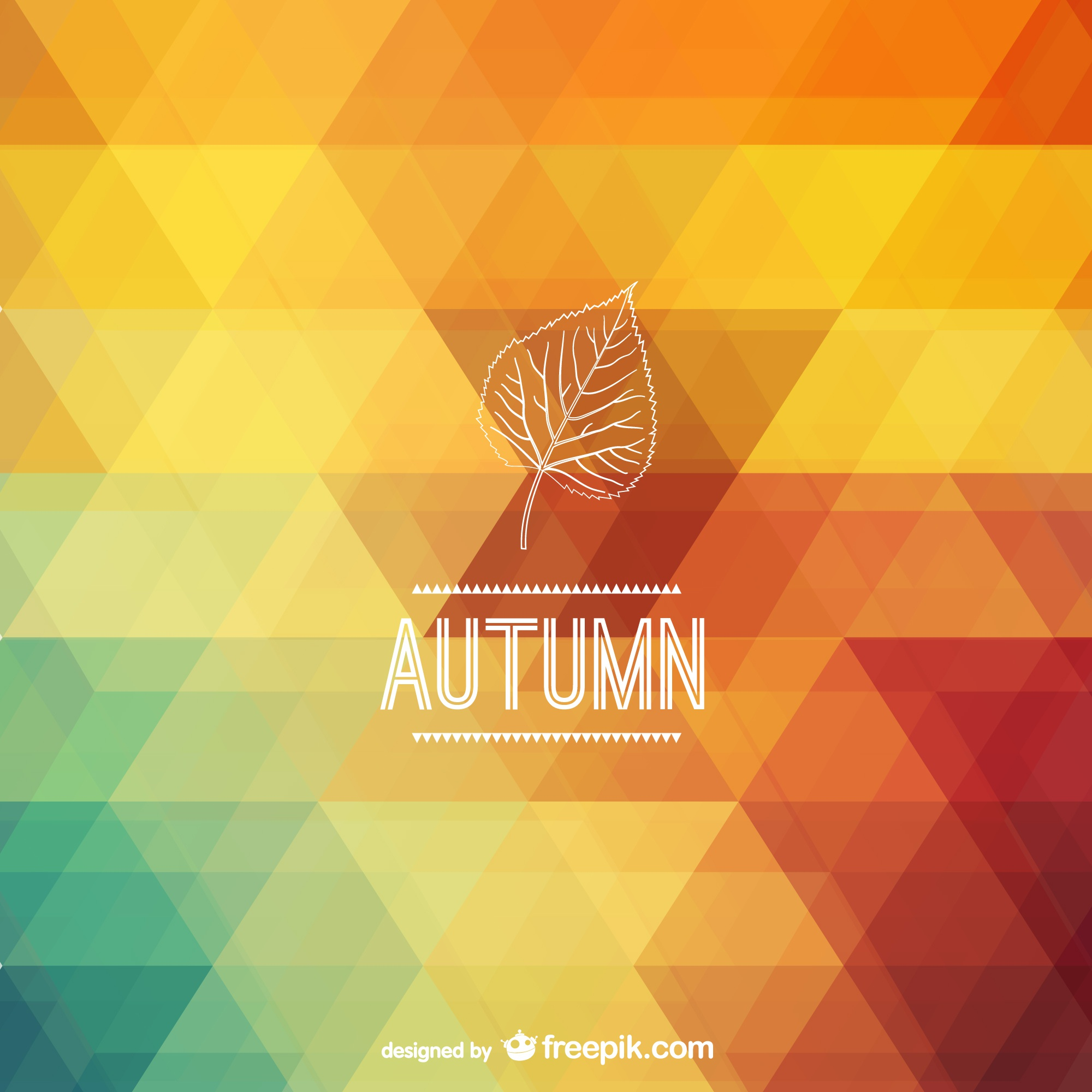 Autumn polygonal background