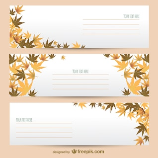 Autumn banner templates