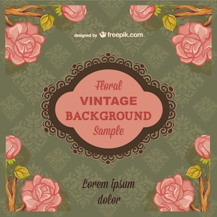 Floral vintage background with text