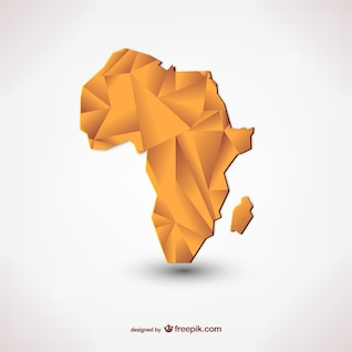 Polygonal silhouette of Africa