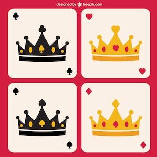 Poker crowns vector