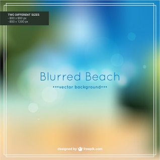 Blurred beach vector
