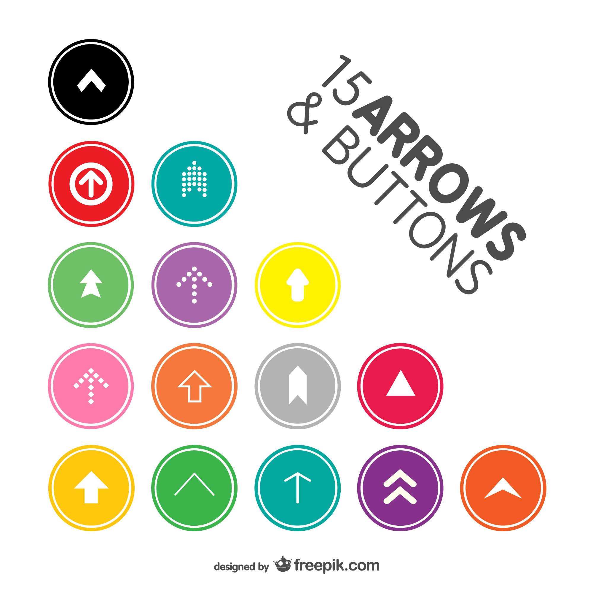 Arrow buttons pack