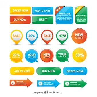 Website buttons