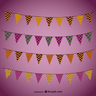 Colorful garlands for Halloween