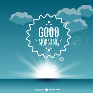 Good morning label vector