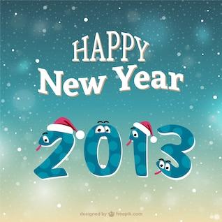 Happy new year cartoon snakes