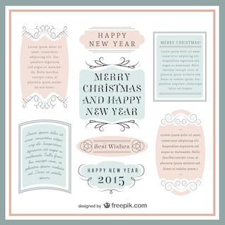 Vintage Christmas templates pack