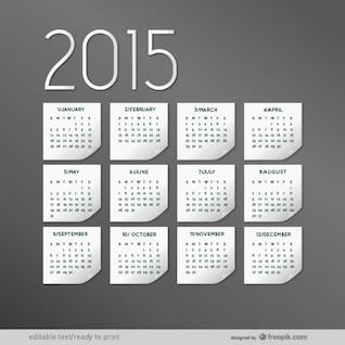 Elegant 2015 calendar