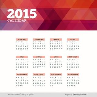 Polygonal 2015 calendar