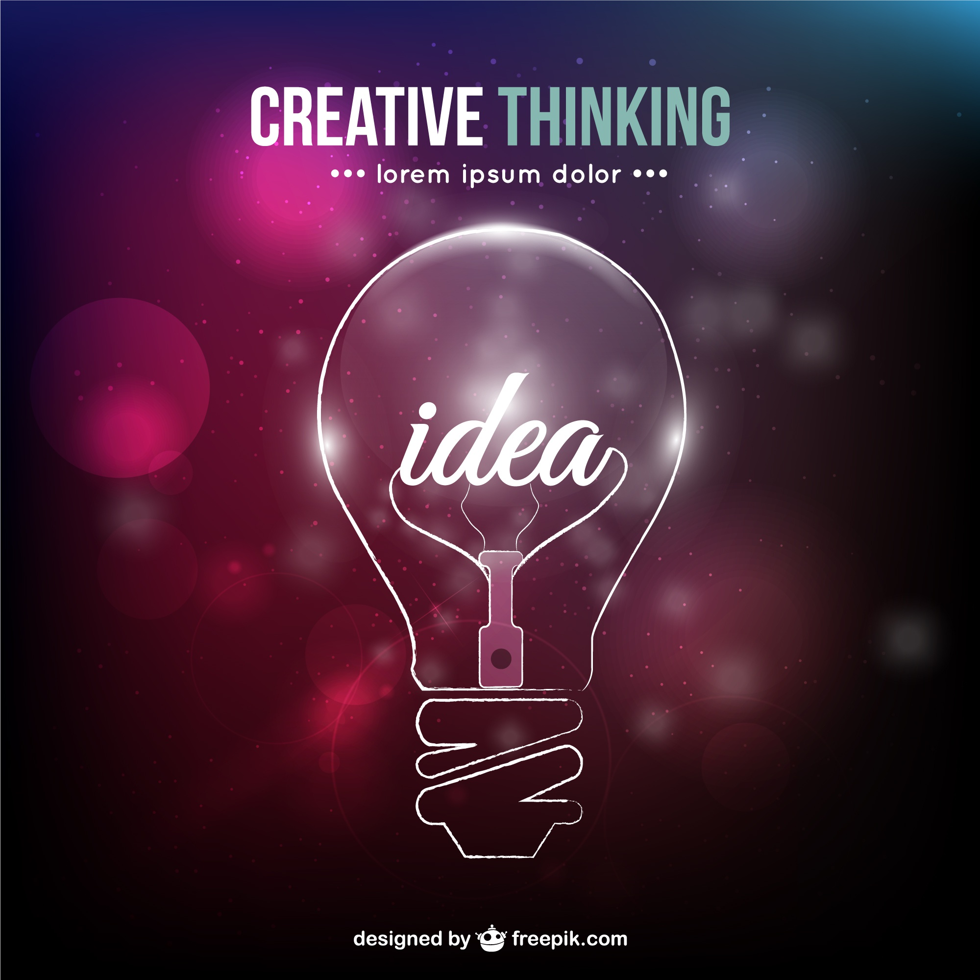 Creative thinking conceptual vector