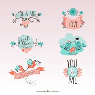Vintage love stickers