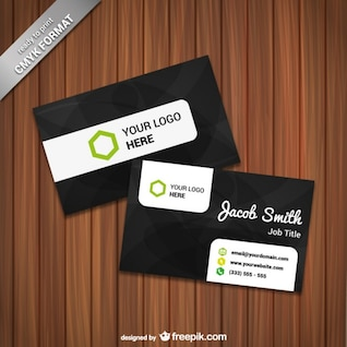 Ready to print card template vector