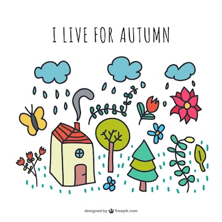 I live for autumn vector