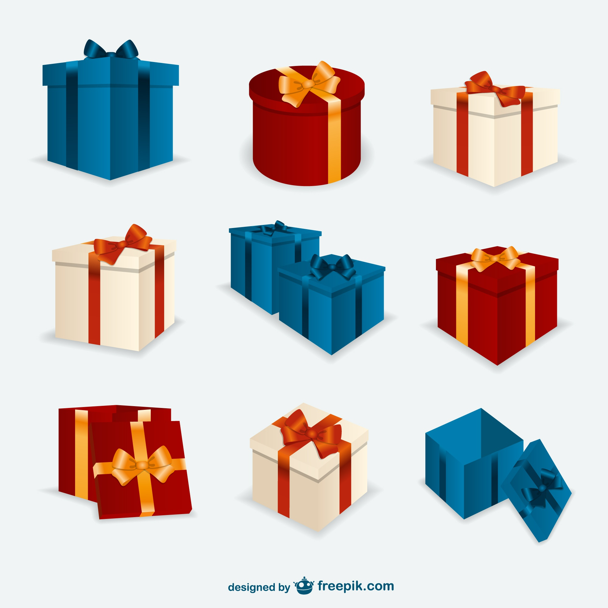 Christmas present boxes pack