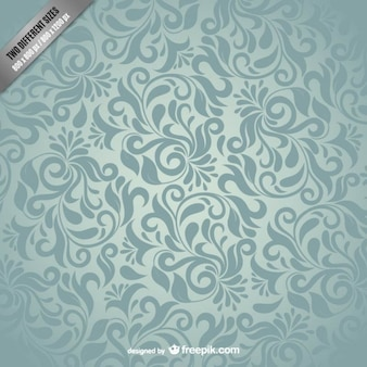Grey damask pattern vector