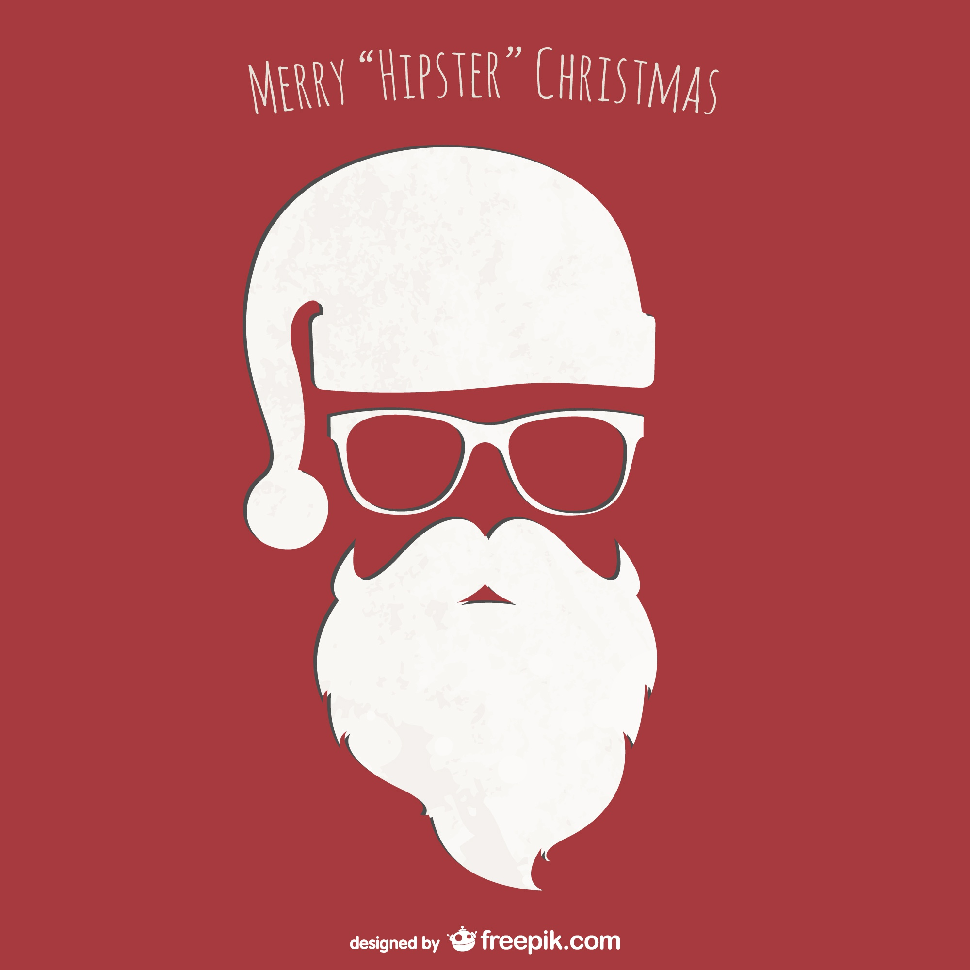 Hipster Christmas card vector