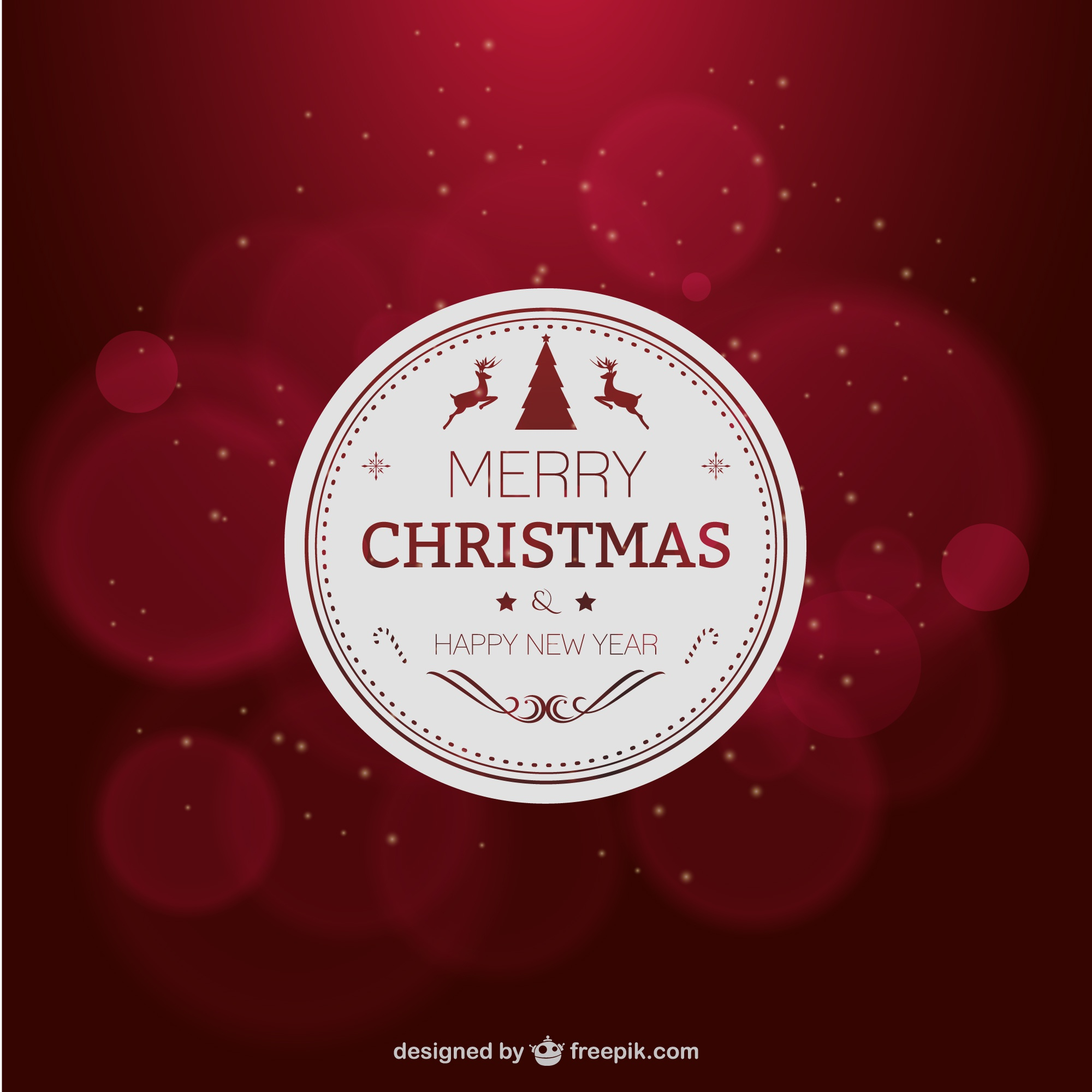 Elegant red Christmas card