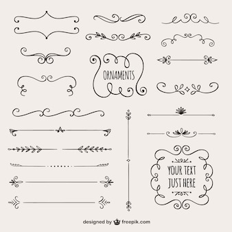 Calligraphic borders collection