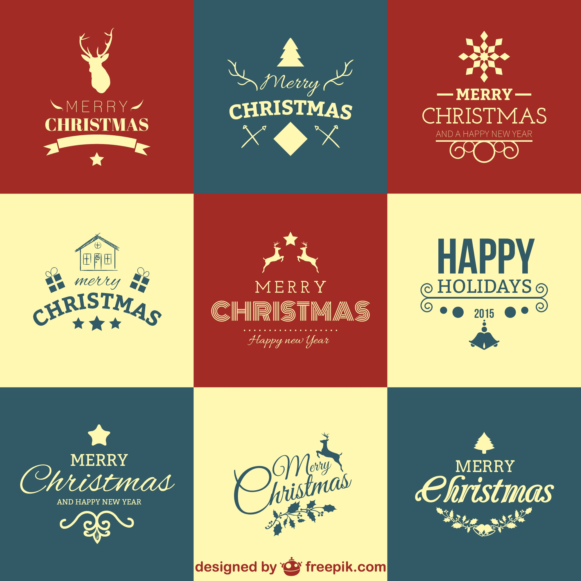 Christmas greetings set
