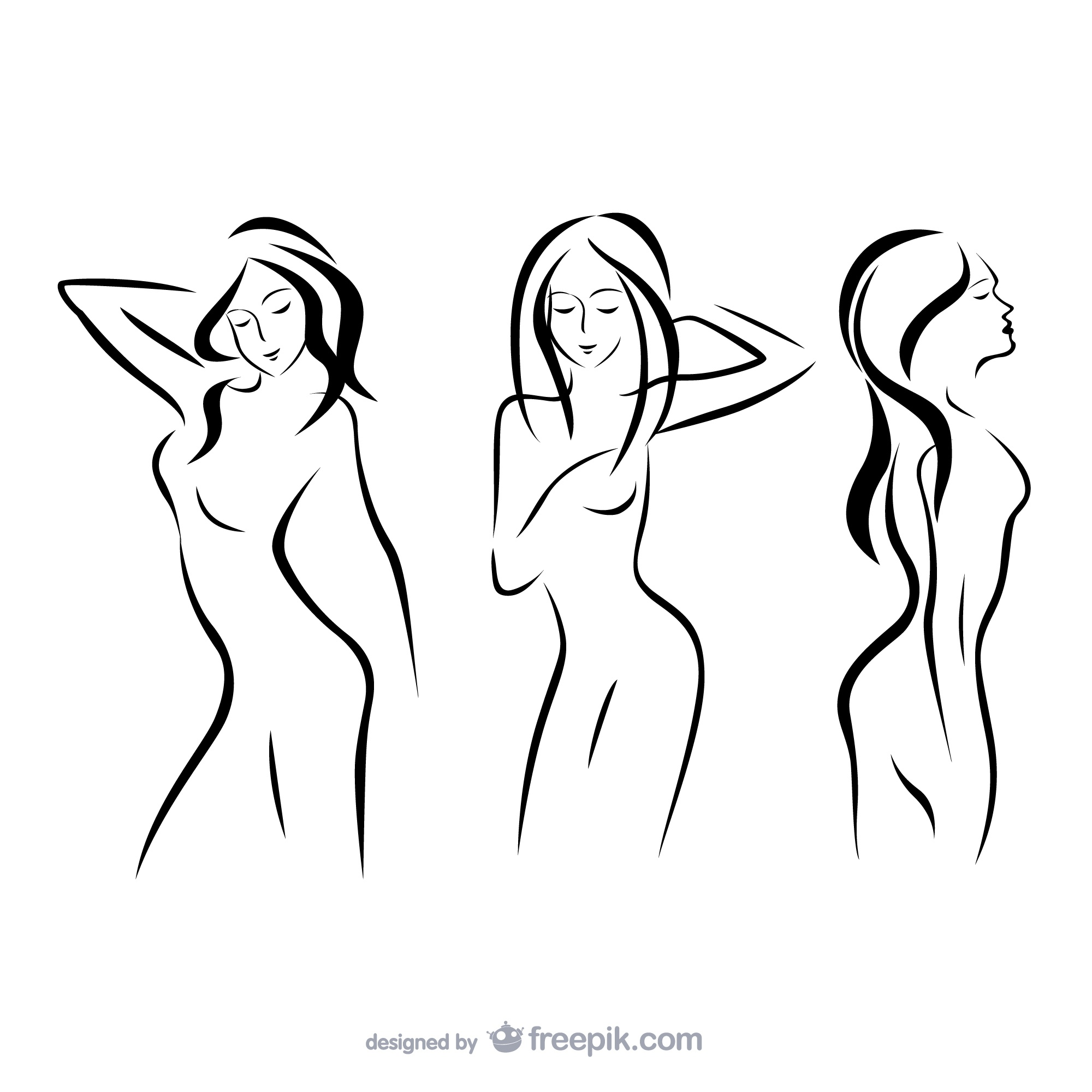 Women outline silhouettes