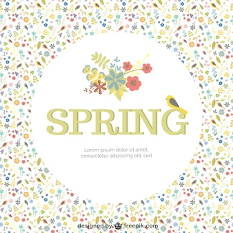 Spring background template