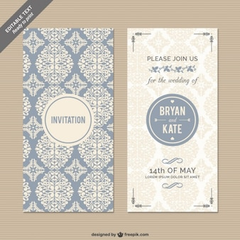 CMYK Floral wedding invitation