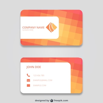 Business card with squares