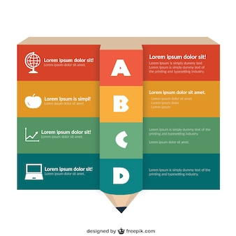 Education infographic template