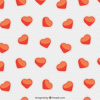 Cute heart and dots pattern