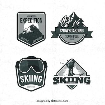 Retro ski badges