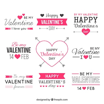 Valentine vector design elements