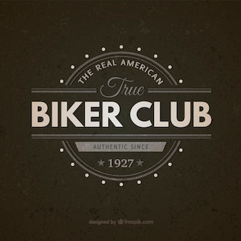 Biker club vintage badge