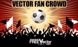 Free Vector Fan Crowd