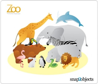 12 Zoo Animal Vectors