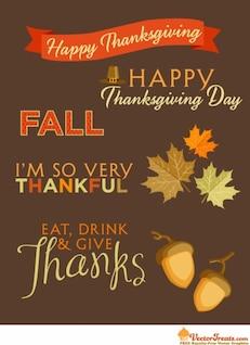 Thankful greeting card vector