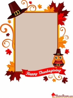 Thankful frame with ornaments