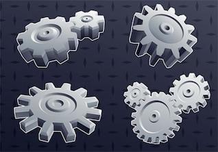 Free vector cool element background gear gay dark machine smart idea